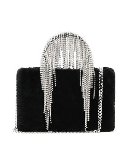 Midi crystal fringe bag