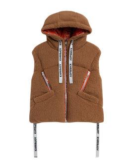 Fleece puffer vest