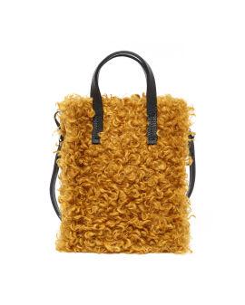 Curly faux fur shopper bag
