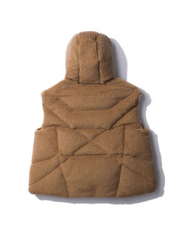 Hooded down vest