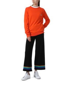 Fox patch wool sweater