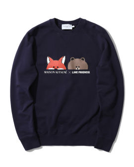X LINE FRIENDS Fox and Brown print sweatshirt