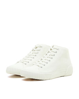 Canvas tiger crest high-top sneakers