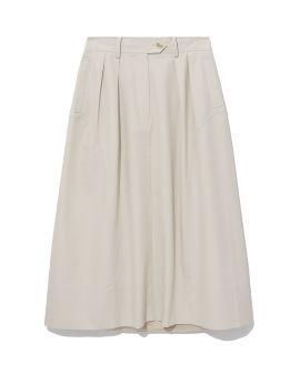 Belted flared skirt