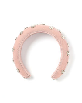 Strass and faux pearl headband