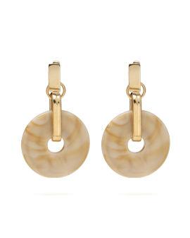 Drop down donut earrings