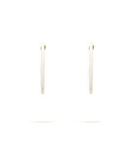 Marble-effect hoop earrings