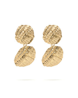 Textured graduated earrings