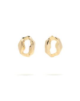 Beaten hoop earrings