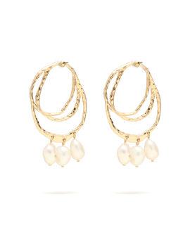 Freshwater pearl drop stud earrings