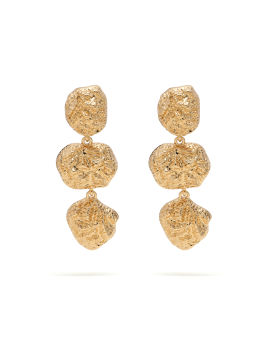 Textured Graduated drop earrings