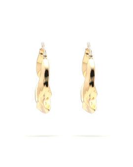 Statement Organic Twisted Hoop earrings