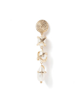 Pearl accent drop earrings