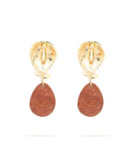 Statement Stud Stone drop earrings