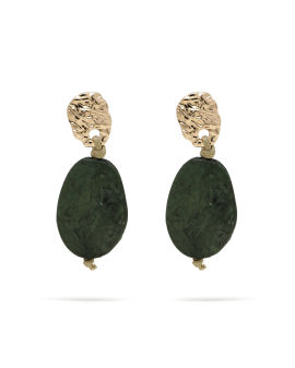 Bead disc drop earrings