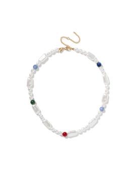 Coloured accent pearl bracelet