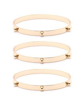 Bead embellished bangles set