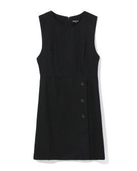 Buttoned side dress