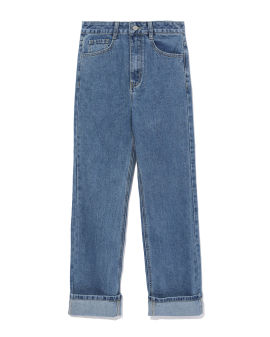 Rolled cuff jeans