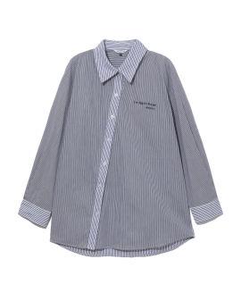 Panelled striped shirt