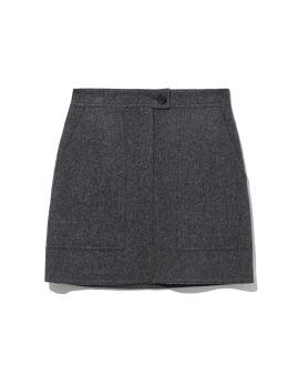 Handmade wool mini skirt