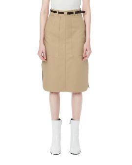 Side Slit Middle skirt