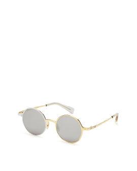 Asymmetrical round sunglasses