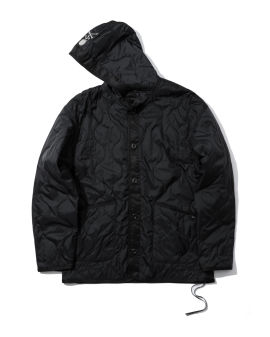 Skull quilted hooded jacket