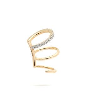 Laurel Blanc 14k Gold diamond ear cuff