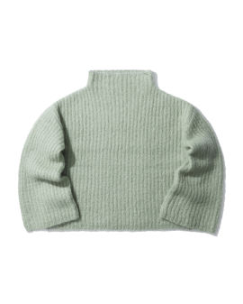 Mohair-blend mock neck sweater