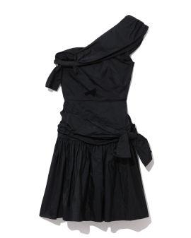Meredith bow one-shoulder dress