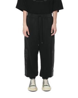 Side stripe wide leg sweatpants