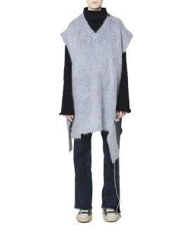 Distressed elongated vest