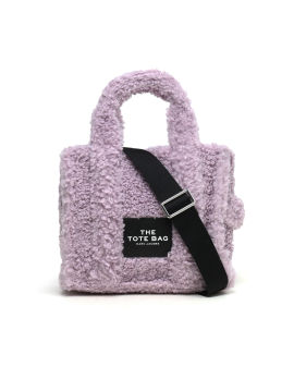 Fuzzy crossbody bag