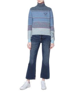 Turtleneck intarsia sweater