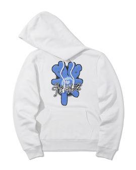 Double-headed teddy print hoodie