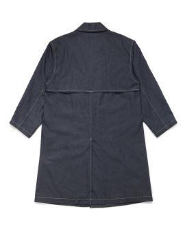 Contrast topstitch overcoat