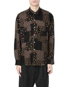 Mismatch pattern shirt
