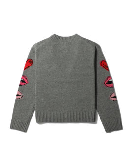 Drew stacked lips sweater