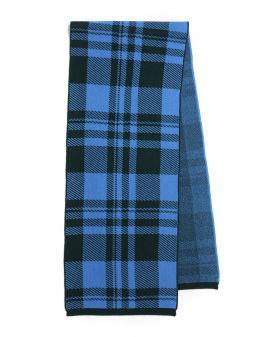 Intarsia plaid scarf