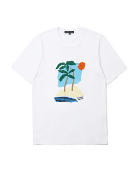 Palm Trees sequin tee