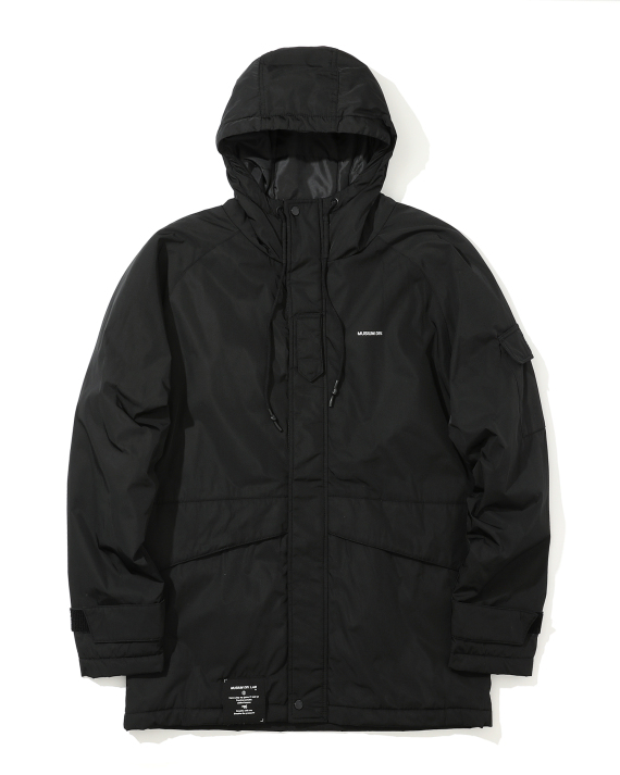 0207542b MUSIUM DIV. Logo print padded jacket