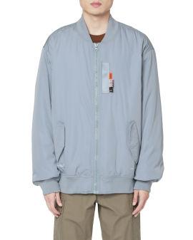 Printed zip-up jacket
