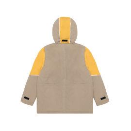 Colour block logo parka jacket