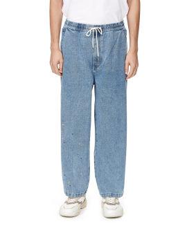 Paint splattered jeans