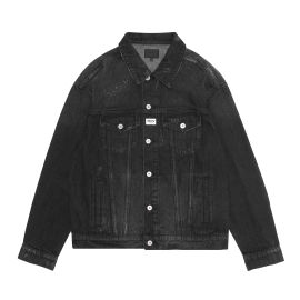 Distresed denim jacket