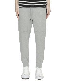 Zip detail drawstring track pants