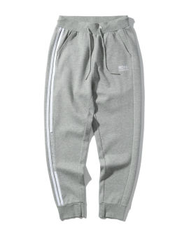 Logo embroidered taped drawstring track pants
