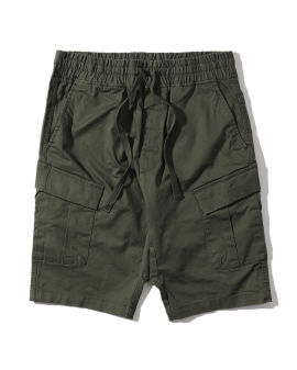 Drop crotch cargo shorts