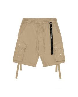 Paint splatter cargo shorts